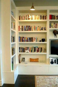 Room shelves, built in cabinets, bookshelves built in, custom bookshelves, Custom Bookshelves, Bookshelves Built In, Bookshelf Design, Bookcase Wall, Custom Shelving, Bookshelf Ideas, Wall Shelves, Simple Bookshelf, Creative Bookshelves
