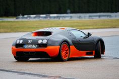 The Veyron has a tendency to understeer, cured by carefully-timed trail braking
