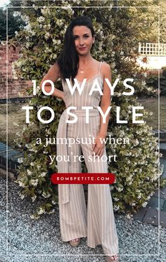 10 Ways to style a jumpsuit when you're petite. Jumpsuits have been drowning us petite women for yea Short Women Fashion, Fashion For Petite Women, Petite Fashion Tips, Petite Outfits, Dress For Short Women, Fashion Bloggers, Fashion Videos, Women's Fashion, Fashion Outfits
