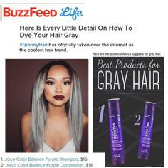 Buzzfeed Life features Joico's NEW Color Balance Purple Shampoo and Conditioner for maintaining gray hair
