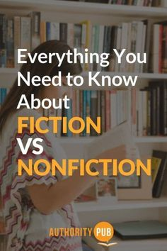 Fiction and nonfiction books belong in different genres for a reason. But a fictional story doesn't have to be based on imagination, nor does every piece of nonfiction have to be dry and unimaginative. Fiction Vs Nonfiction, Fiction Writing, Writing Advice, Writing A Book, What Is Fiction, How To Influence People, Mystery Novels, Science Books, Self Publishing