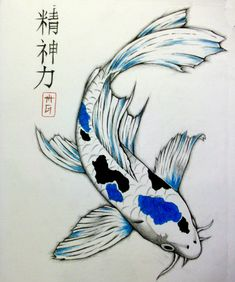 koi drawings - Google-Suche                                                                                                                                                      More