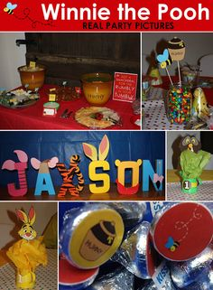 Winnie the Pooh Birthday Party Printables - Mini Package. $10.00, via Etsy.  Ask about getting Owl accessories for the letters