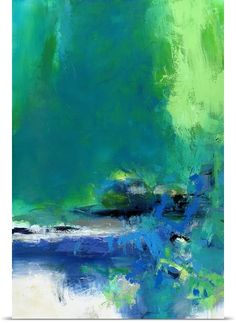 """Green abstract art - """"Taking a Day"""" canvas art by Janet Bothne from Great BIG Canvas."""