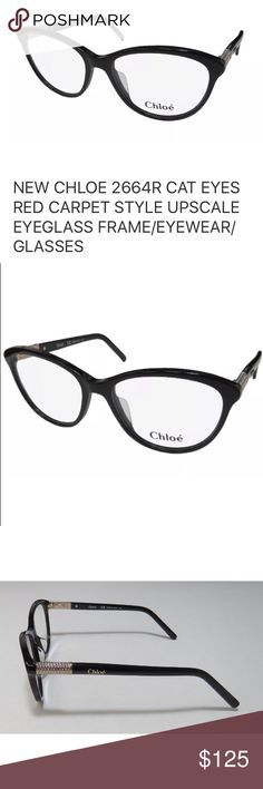 Chloe Eyeglass RX Frames New with hard case, cleaning cloth, and papers. Frame color is Tortoise. Size is 54/16/135 Chloe Accessories Glasses