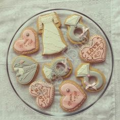 Bridal shower & engagement wedding cookies