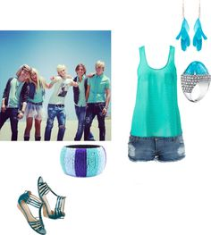 """if i was in the R5"" by raura920 ❤ liked on Polyvore"