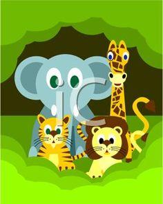 Cute Cartoon Jungle Animals
