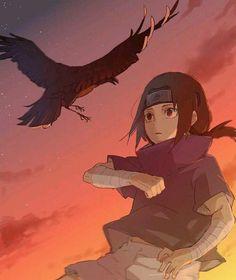 Itachi Uchiha and his crows Itachi Uchiha, Naruto And Sasuke, Anime Naruto, Itachi Akatsuki, Naruto Cute, Naruto Shippuden Anime, Sasunaru, Naruhina, Kakashi