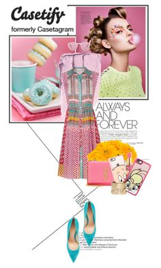 """""""STAY TUNES!"""" by gizaboudib ❤ liked on Polyvore featuring Tiffany & Co., Diane Von Furstenberg, Casetify, Lux-Art Silks, Yves Saint Laurent, Gianvito Rossi, Lanvin and Oliver Peoples"""
