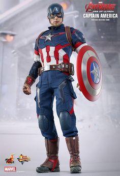 Capitão América (Chris Evans) em Vingadores: Era de Ultron – Action Figure Perfeita Hot Toys