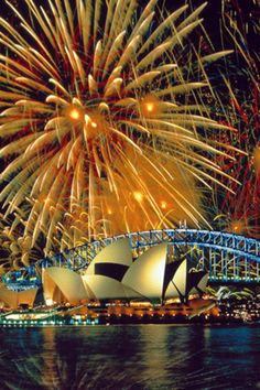 fireworks in Sydney, Australia over the Opera House.I want my husband and me to kiss underneath these fireworks. Places Around The World, The Places Youll Go, Places To See, Around The Worlds, Dream Vacations, Vacation Spots, Summer Vacations, Vacation Travel, Beautiful World
