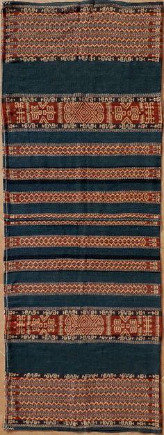 Sarong, Ikat from Savu, Savu Group, Indonesia, ca. 1950.