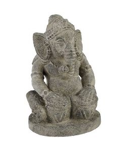 7 Inch Tall Hindu God Ganesh Volcanic Stone Statue by Things2Die4. $29.99. Makes A Great Gift. 7 in. Tall, 5 in. Wide, 4 in. Deep. Volcanic Stone. The son of Shiva and Parvati, Ganesha has an elephantine countenance with a curved trunk and big ears, and a huge pot-bellied body of a human being. He is the Lord of success and destroyer of evils and obstacles. He is also worshiped as the god of education, knowledge, wisdom and wealth. Made of volcanic stone, this amazing sculpture i... Stone Statues, Ganesha, Worship, Lion Sculpture, Great Gifts, Garden Sculptures, Outdoor Decor, Shiva, Wealth