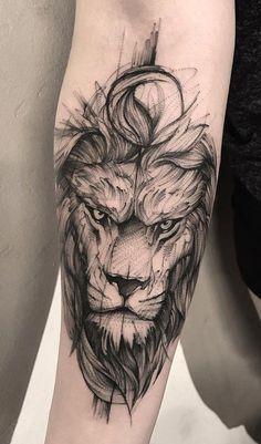 Wolf Tattoos, Hand Tattoos, Lion Head Tattoos, Neue Tattoos, Animal Tattoos, Body Art Tattoos, Forearm Tattoos For Guys, Tatoos, Lion Tattoos For Men