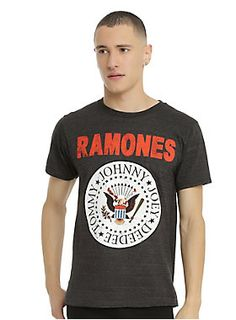 "Ramones Tee-shirt homme 1976 tour /""Hey Ho Let/'s go/"" ENGLAND-Vintage-Rock-Noir"
