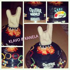 Guitar, Birthday Cake, Hero, Desserts, Food, Cakes With Fondant, Tailgate Desserts, Deserts, Birthday Cakes