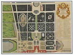 Le plan du jardin de Versailles dressé pour Louis XV par Jean Chaufourier en…
