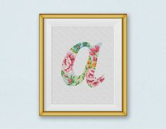 BOGO FREE Letter Cross Stitch Pattern Letter a