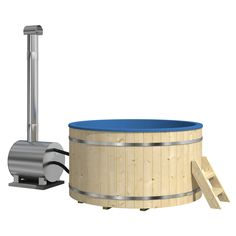 The woodfired hot tub is a perfect accompaniment to any home. Soak in the hot water to your heart's content with the 78 inch wide tub, requiring zero electricity.