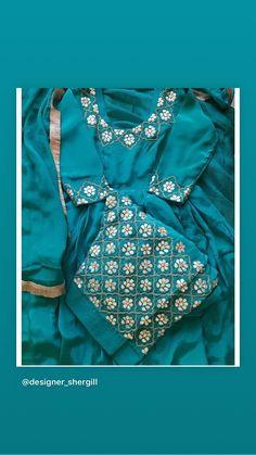 Stories • Instagram Pakistani Fashion Party Wear, Indian Fashion Dresses, Girls Fashion Clothes, Clothes For Women, Punjabi Suit Boutique, Punjabi Suits Designer Boutique, Indian Designer Suits, Embroidery Suits Punjabi, Embroidery Suits Design
