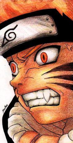 Uzumaki Naruto almost under control of Kyūbi. Naruto can control himself, yet.