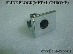 VESPA PX / LML SLIDER BLOCK FOR GLOVE COMPARTMENT METAL CHROME PLATED BRAND NEW