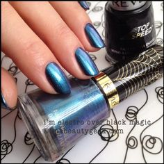 Revlon Spiderman I'm Electro Black Magic Electric Chrome Collection. Collection swatches @ ImaBeautyGeek.com