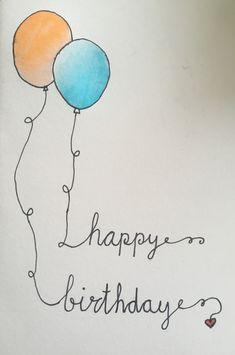 #Handlettering #verjaardagskaart #happybirthday #brushpennen