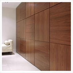 GAP Interiors Modern table by wooden feature wall Picture library - Modern wood wall