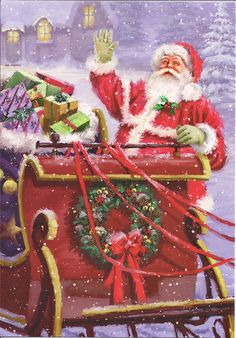 Santa Claus by Mailbox Happiness-Angee at Postcrossing, via Flickr