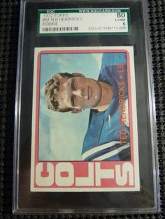 1972 Topps Ted Hendricks Rookie Card RC Graded SGC 6 EX NM  MINT #93 Colts http://r.ebay.com/uk7iio @eBay