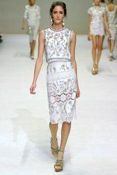Dolce & Gabbana Spring 2011 Ready-to-Wear Fashion Show - Amanda Laine
