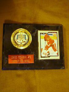Sergei Fedorov card/emblem plaque. $9.99