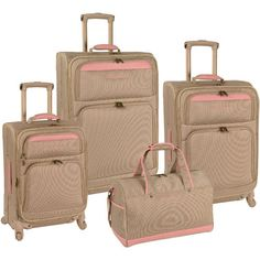 0c0812d520a Inspired by the island lifestyle the Tommy Bahama Mama 4 Piece Expandable  Spinner Luggage Set features