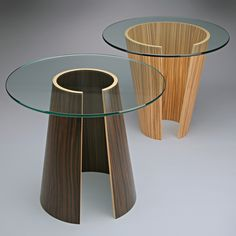 Catalan End Table by Richard Judd. Please Note: The glass for this table will ship separately from the base. Glass Furniture, Home Decor Furniture, Table Furniture, Furniture Design, Wood End Tables, Entry Tables, Wood Table, Side Tables, Coffee Tables