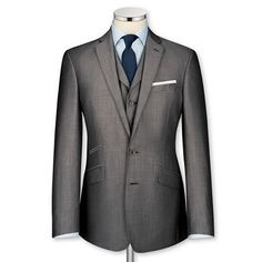 Fancy - Grey mohair tailored fit Black Label suit | Men's Black Label suits from Charles Tyrwhitt | CTShirts.com