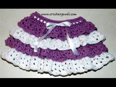 Amy's Crochet Creative Creations: Crochet Ruffle Skirt (Girls size 2, 4)