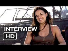 Fast & Furious 6 Interview - Michelle Rodriguez (2013) - Dwayne Johnson Movie HD