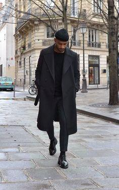 full black street style: