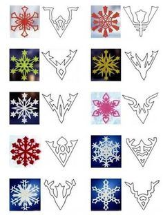 40 Paper Snowflake Garlands for Christmas Decorating, Christmas Crafts - paper snowflakes designs Christmas Projects, Holiday Crafts, Holiday Fun, Snowflake Garland, Paper Snowflakes, Paper Snowflake Designs, Cut Out Snowflakes, Snowflakes Diy Template, Diy Snowflake Decorations