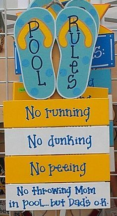 Our Pool Rules Metal Sign   Google Search · Patio SignsPool SignsOutdoor ...