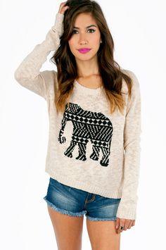ELEPHANT SWEATER.- I'd so wear that!  http://socialmediabar.com/get-started-right-now