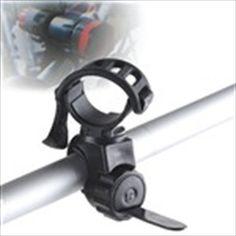 Adjustable Bicycles Bikes Light Flashlight Set Torch Mount Holder 360 Degree Rotation LC-6 - Black