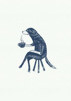 An Illustration for The Vets cafe branding. Art Et Illustration, Animal Illustrations, Illustrations Posters, Illustration Animals, Bear Design, Wow Art, Grafik Design, Art Inspo, Art Drawings