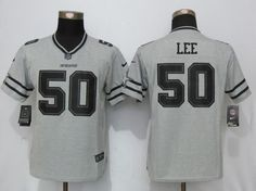 Women Nfl Dallas Cowboys #50 Sean Lee Gray Gridiron Gray Ii Limited Jersey
