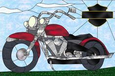 Stained Glass art project Harley Davdison