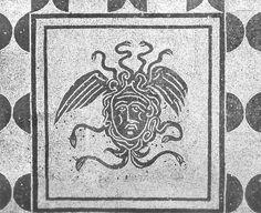 Detail of mosaic floor, Domus delle Gorgoni (House of the Gorgons).  Ostia Antica.