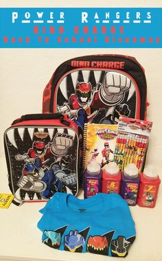 Power Rangers DINO CHARGE Back To School Giveaway Ends 08/28/15
