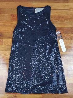 for love and liberty * black scoop neck sequin cocktail dress * size S * small #ForLoveandLiberty #Cocktail
